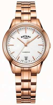 Rotary Womens Cambridge Watch Rose Gold Tone Bracelet LB05262/06
