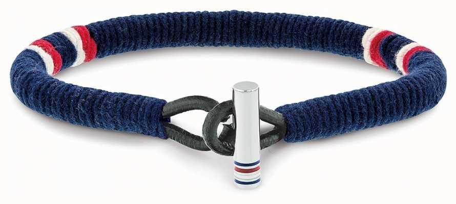 Tommy Hilfiger Blue Wrapped Leather Bracelet 2701070