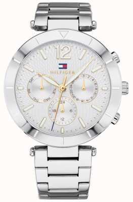 Tommy Hilfiger Womens Chloe Watch Day Date Silver Tone Bracelet 1781877