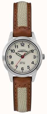 Timex Field Mini Tan Leather Natural Dial TW4B11900