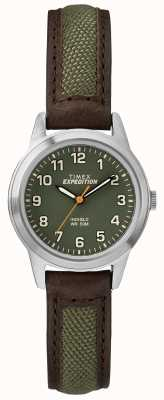 Timex Field Mini Brow Leather Green Dial TW4B12000