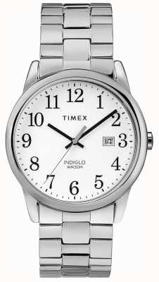 Timex Mens 38mm Expeditional Band Stainless Steel White Dial TW2R58400