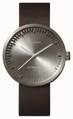 Leff Amsterdam Tube Watch D42 Steel Case Brown Leather Strap LT72002