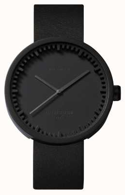 Leff Amsterdam Tube Watch D42 Black Case Black Leather Strap LT72011