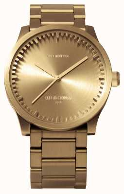 Leff Amsterdam Tube Watch S42 Brass Case Brass Bracelet LT72103