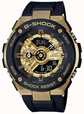 Casio G-Shock G-Steel Black And Gold GST-400G-1A9ER