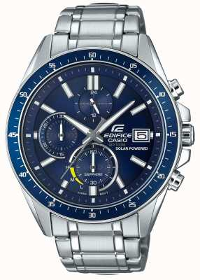 Casio Edifice Solar Sapphire Glass Stainless Steel Blue Dial EFS-S510D-2AVUEF