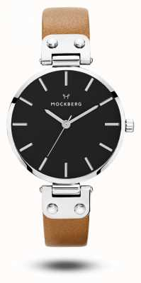 Mockberg Women's Wera Black Brown Strap Black Dial MO112