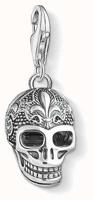 Thomas Sabo Skull With Lily Sterling Silver Charm 1546-637-21