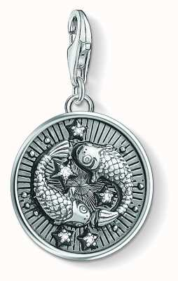 Thomas Sabo Zodiac Sign Pisces Sterling Silver blackened zirconia 1639-643-21