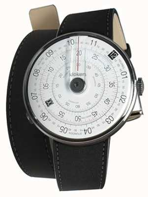 Klokers KLOK 01 Black Watch Head Mat Black 380mm Double Strap KLOK-01-D2+KLINK-02-380C2