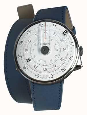 Klokers KLOK 01 Black Watch Head Indigo Blue 420MM Double Strap KLOK-01-D2+KLINK-02-420C3