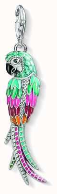 Thomas Sabo Sterling Silver Parrot Multicoloured Enamel And Zirconia Y0002-691-7