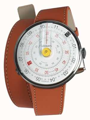 Klokers KLOK 01 Yellow Watch Head Orange 420mm Double Strap KLOK-01-D1+KLINK-02-420C8