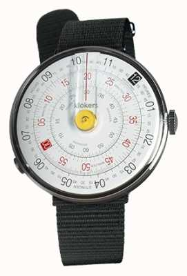 Klokers KLOK 01 Yellow Watch Head Black Textile Single Strap KLOK-01-D1+KLINK-03-MC3