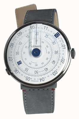Klokers KLOK 01 Blue Watch Head Grey Alcantara Strait Single Strap KLOK-01-D4.1+KLINK-04-LC11