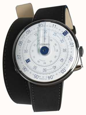 Klokers KLOK 01 Blue Watch Head Mat Black 420mm Double Strap KLOK-01-D4.1+KLINK-02-420C2