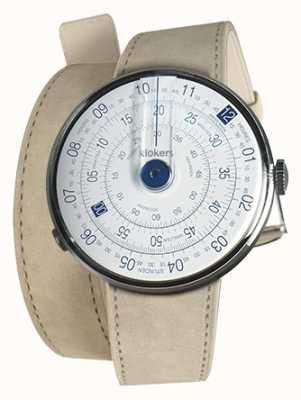 Klokers KLOK 01 Blue Watch Head Grey Alcantara 420mm Double Strap KLOK-01-D4.1+KLINK-02-420C6