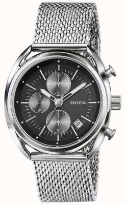 Breil Beaubourg Stainless Steel Chronograph Black Dial Mesh TW1513