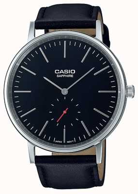 Casio Sapphire crystal  black genuine leather strap LTP-E148L-1AEF