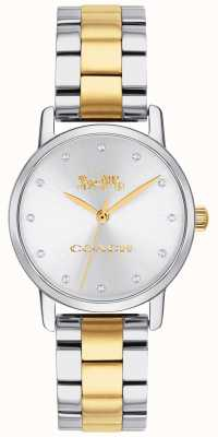 Coach Ladies Grand Two Tone Gold & Silver Stainless Steel 14503004