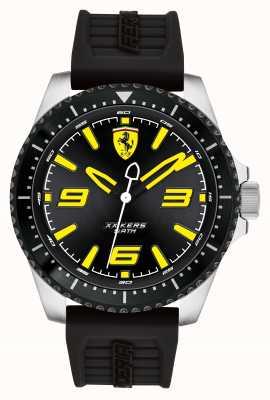 Scuderia Ferrari XX Kers Black Dial Black IP Coated Case Black Rubber Strap 0830487
