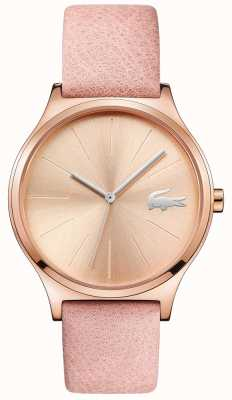Lacoste Nikita Rose Gold Dial & Case Pink Leather Strap 2001014