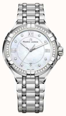 Maurice Lacroix Womens Aikon Mother Of Pearl Dial Stainless Steel Bracelet AI1006-SD502-170-1
