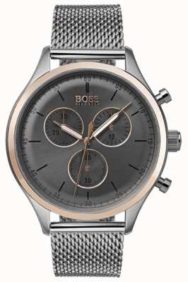 Hugo Boss Mens Companion Chronograph Watch Grey 1513549