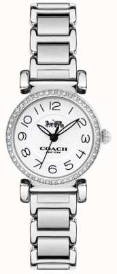 Coach Womens Madison Watch Steel Bracelet White Dial 14502851