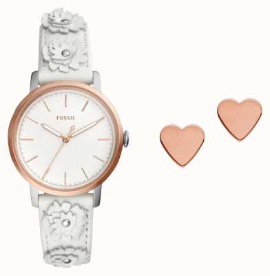 Fossil Womens Neely Watch And Ear Stud Set ES4383SET