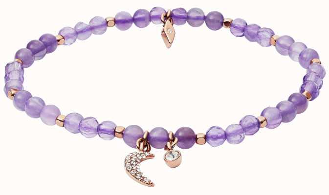 Fossil Vintage Motifs Strength Purple Moon Bracelet JA6923791