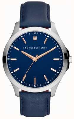 Armani Exchange Mens Hampton Leather Strap AX2406