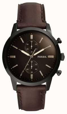 Fossil Mens 44Mm Townsman Leather Strap FS5437