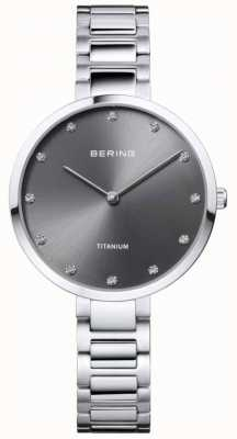 Bering Crystal Set Titanium Grey Case And Bracelet 11334-772