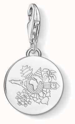 Thomas Sabo Wanderlust Engraved Charm Pendant 1413-001-12