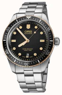 Oris Divers Sixty Five Stainless Steel Bracelet Watch 01 733 7707 4354-07 8 20 18