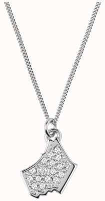 Radley Jewellery Love Radley Silver Radley Dog Head Zirconia Necklace RYJ2022