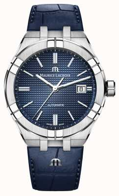 Maurice Lacroix Aikon Automatic Blue Dial Blue Leather Watch AI6008-SS001-430-1