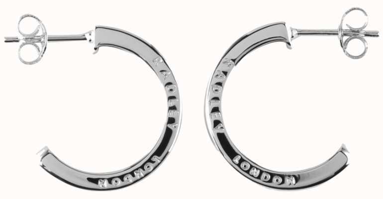 Radley Jewellery Hatton Row Silver Inlay Hoop Earrings RYJ1011