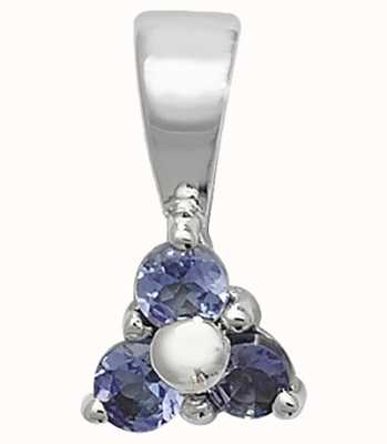 Treasure House 9k White Gold £ Stone Tanzanite Pendant PD230WT