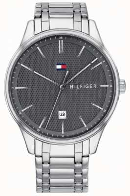Tommy Hilfiger Men's Damon Grey Dial Stainless Steel Watch 1791490
