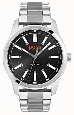 Hugo Boss Orange Mens Dublin Black Dial Stainless Steel Bracelet Watch 1550069