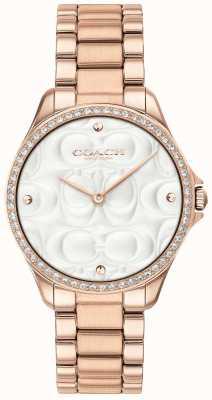 Coach Womens Modern Sport Watch In Rose Gold 14503072