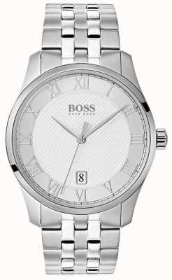 Hugo Boss Mens Master Stainless Steel Silver Dial Watch 1513589