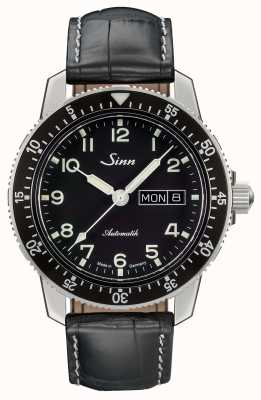 Sinn 104 St Sa A Classic Pilot Watch Black Leather Strap 104.011 LEATHER