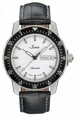Sinn 104 St Sa I W Classic Pilot Watch Alligator Embossed Leather 104.012-BL44201851001225401A