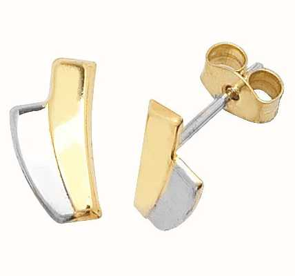 Treasure House 9k Yellow and White Gold Stud Earrings ES306