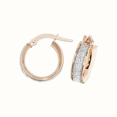 Treasure House 9k Rose Gold Hoop Earrings 10 mm ER1023R-10