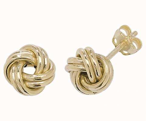 Treasure House 9k Yellow Gold Knot Stud Earrings ER527